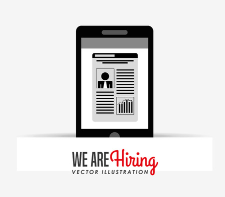 recruiting: hiring workers design, vector illustration eps10 graphic