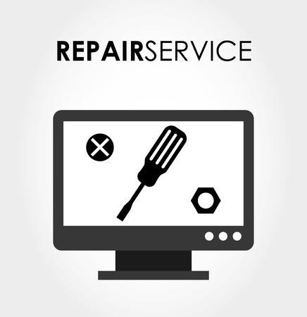 computer services: repair service design, vector illustration eps10 graphic