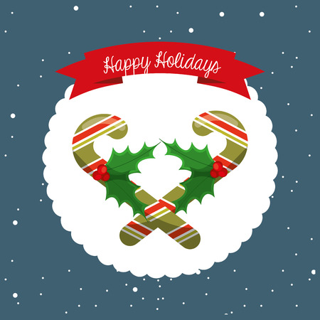 winter cherry: happy merry christmas design, vector illustration eps10 graphic