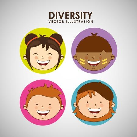 japenese: children of the world design, vector illustration eps10 graphic