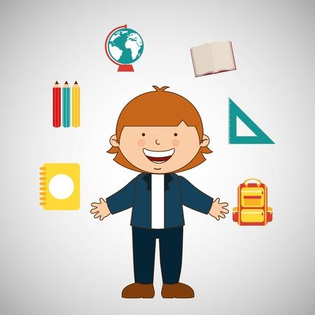 juniors: students back to school design, vector illustration eps10 graphic