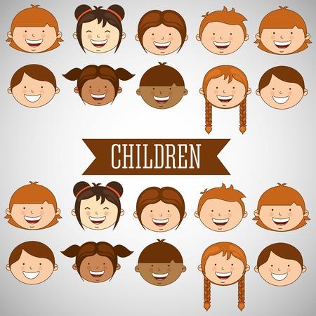 juniors: happy children design, vector illustration eps10 graphic Illustration