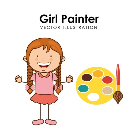 happy children design, vector illustration eps10 graphic Ilustração