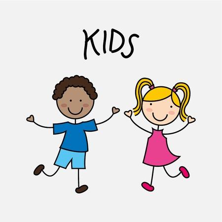 cute little girl: happy children design, vector illustration eps10 graphic Illustration
