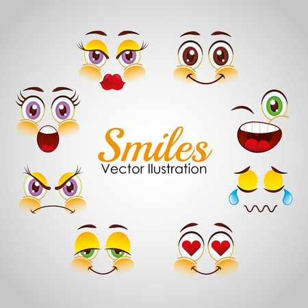 smiley: smiley faces design, vector illustration eps10 graphic