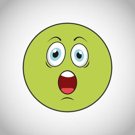 carita feliz caricatura: caras sonrientes de diseño, ilustración vectorial gráfico eps10