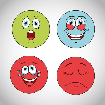 face to face: smiley faces design, vector illustration eps10 graphic