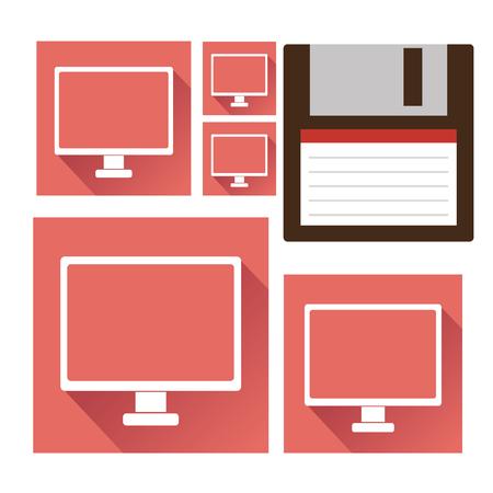 electronic device: Technology electronic device icons Illustration