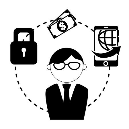 abundance: Bank, money and online payment graphic design, vector illustration eps10 Illustration