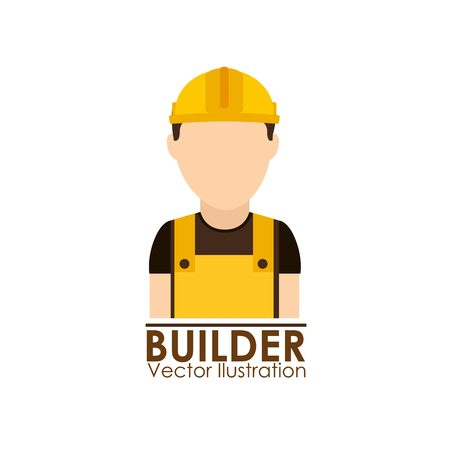 under construction sign with man: under construction design, vector illustration eps10 graphic Illustration