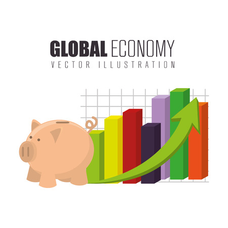 illsutration: Global economy growth up graphic design, vector illsutration eps10