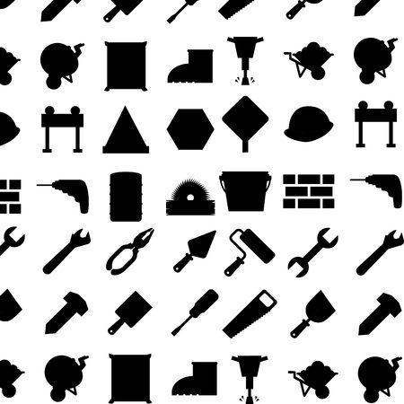 warning saw: under construction design, vector illustration eps10 graphic Illustration
