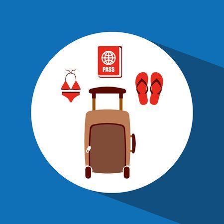 sandalias: el mejor diseño de viaje, ejemplo gráfico vectorial eps10