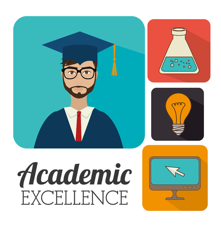 university: University students graduation graphic design, vector illustration eps10