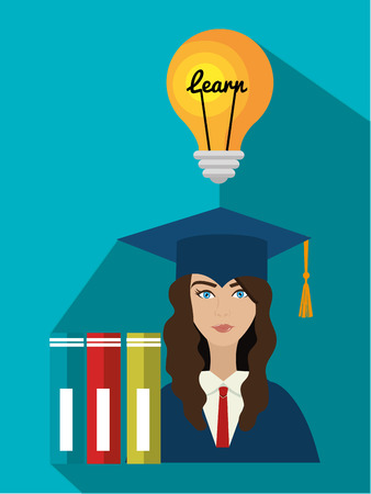 university students: University students graduation graphic design, vector illustration eps10