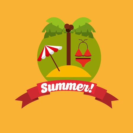 swiming: the best summer design, vector illustration eps10 graphic Illustration