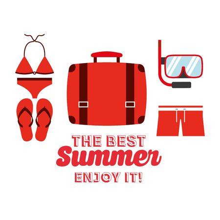 swiming: the best summer design, vector illustration eps10 graphic Illustration