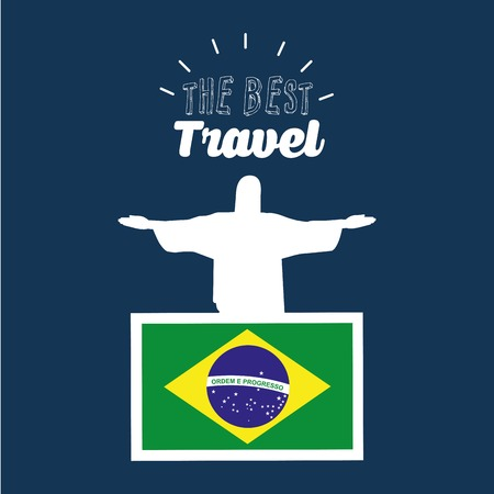 corcovado: the best travel design, vector illustration eps10 graphic