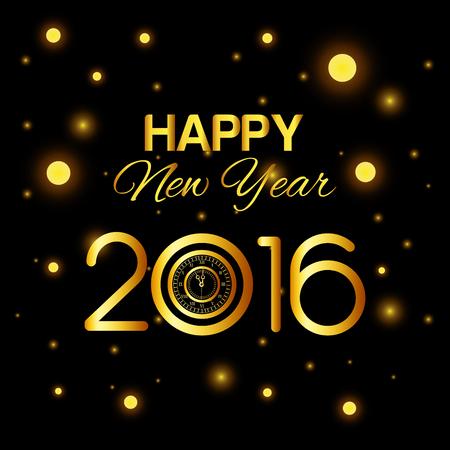 GLOD: Happy new year 2016 graphic design, vector illustration