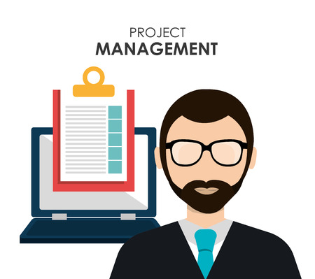 project management: Project management and business theme design, vector illustration Illustration