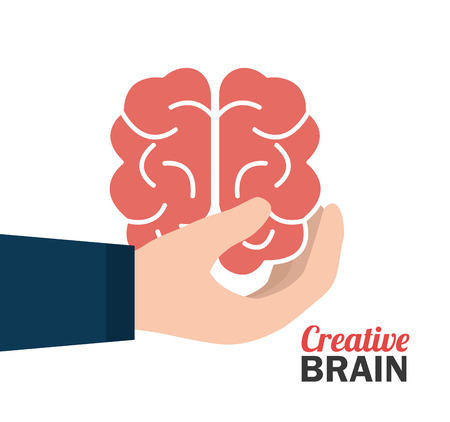 mentality: Big ideas graphic design with icons, vector illustration