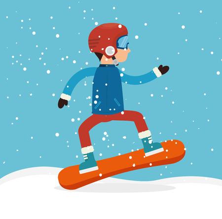 mountain skier: Winter sport and fashion wear graphic design, vector illustration eps10 Illustration