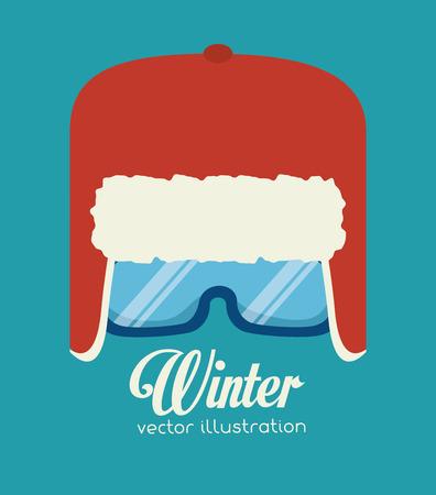 glases: Winter sport and fashion wear graphic design, vector illustration eps10 Illustration