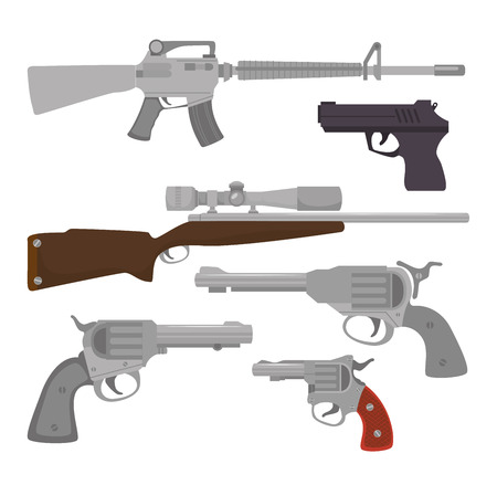 Guns and weapons icon graphic design, vector illustration eps10