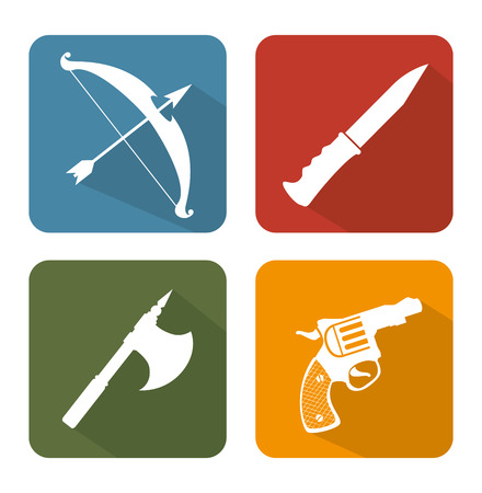 weapons: Guns and weapons icon graphic design, vector illustration eps10
