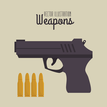 gun shot: Guns and weapons icon graphic design, vector illustration eps10