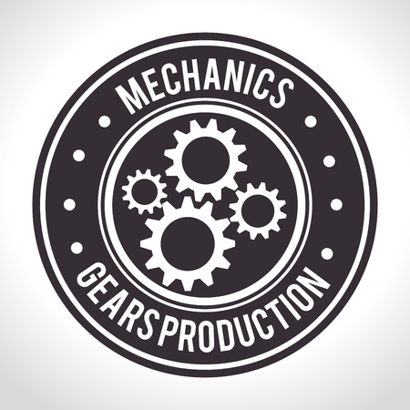 gears and cogs: Gears, cogs or wheels graphic icons design, vector illustration eps10 Illustration