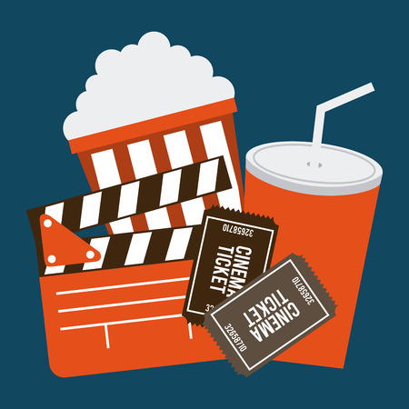 cinema viewing: Cinema concept with movies icons design, vector illustration 10 eps graphic