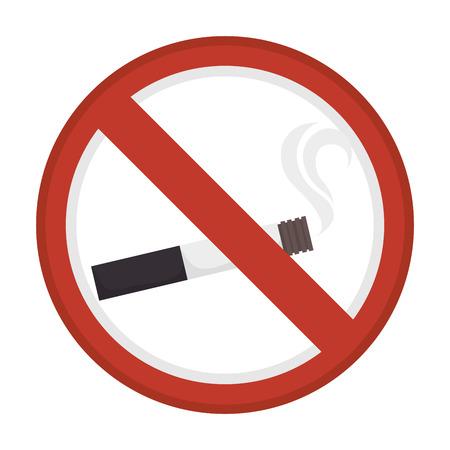 prohibido: Prohibida la publicidad humo de dise�o gr�fico, ilustraci�n vectorial eps10