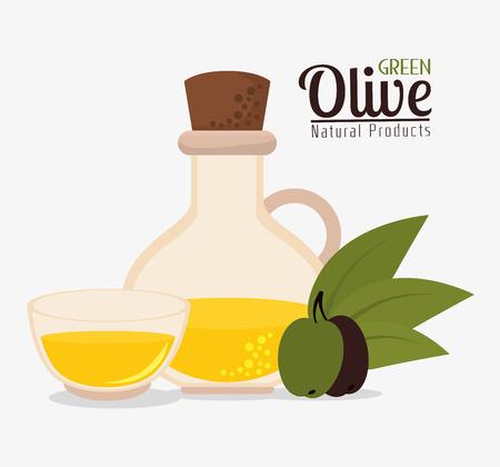 green olive: Green olive oil graphic design, vector illustration eps10