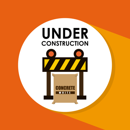 under construction symbol: Under construction concept with tools design, vector illustration 10 eps graphic