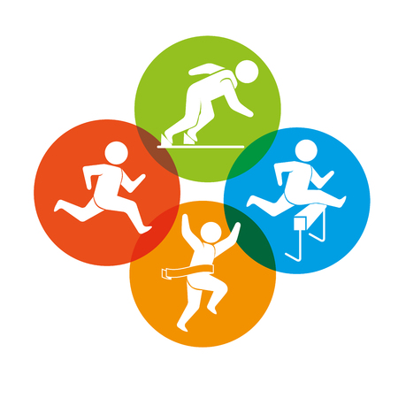 skie: Sport games and fitness lifestyle graphic design, vector illustration