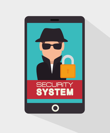 lock block: Security system and surveillance graphic design, vector illustration eps10 Illustration