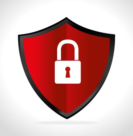 lock block: Security system and surveillance graphic design, vector illustration eps10 Illustration