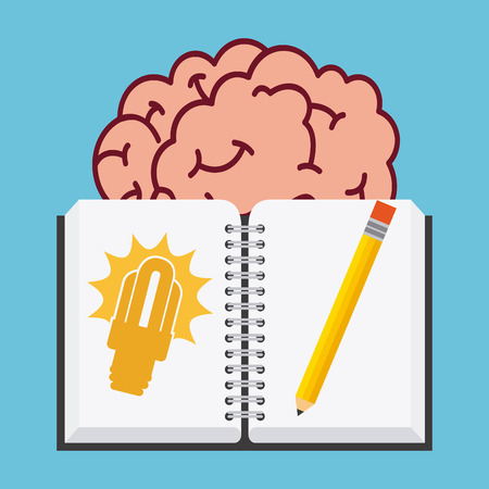 invent clever: Big idea concept with light bulb design, vector illustration 10 eps graphic Illustration