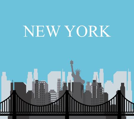web design bridge: United States concept with New York design, vector illustration 10 eps graphic