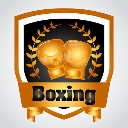 Boxing concept with gloves design, vector illustration 10 eps graphic Illustration
