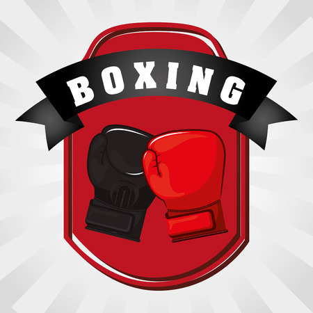 aerobics class: Boxing concept with gloves design, vector illustration 10 eps graphic Illustration