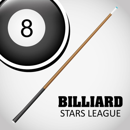 pool hall: Billiard concept with ball design, vector illustration 10 eps graphic