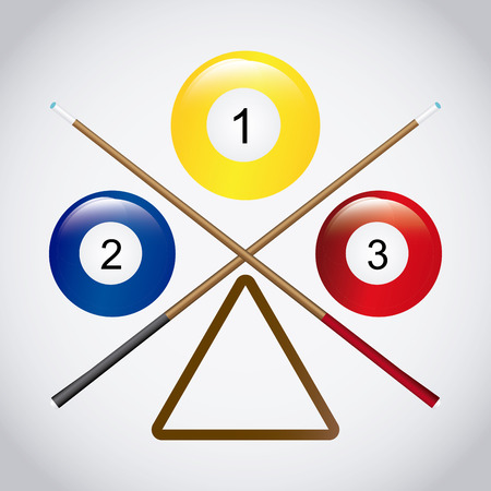 Billiard concept with ball design, vector illustration 10 eps graphic
