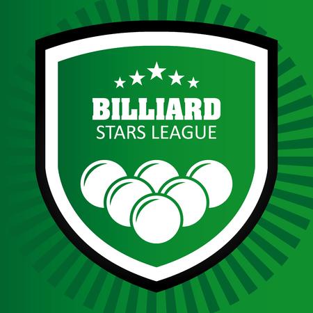 billiards halls: Billiard concept with ball design, vector illustration 10 eps graphic