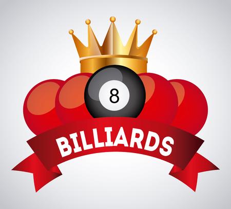 pool halls: Billiard concept with ball design, vector illustration 10 eps graphic