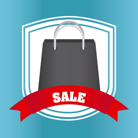Sale concept with shopping bag design, vector illustration 10 eps graphic