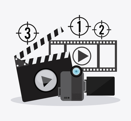 filmstrip: Movie concept with filmstrip icon design, vector illustration 10 eps graphic Illustration