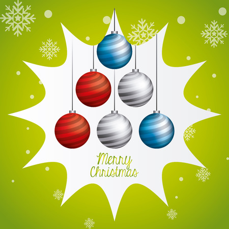 christmas concept: Merry christmas concept with decoration icons design, vector illustration 10 eps graphic Illustration