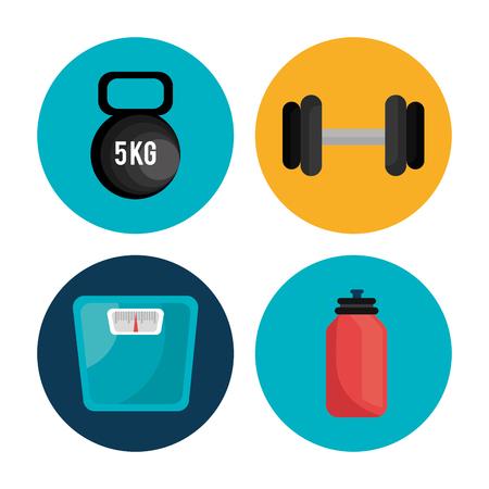 balanza de laboratorio: Dise�o gr�fico salud m�dica con los iconos, ilustraci�n vectorial gr�fico Vectores